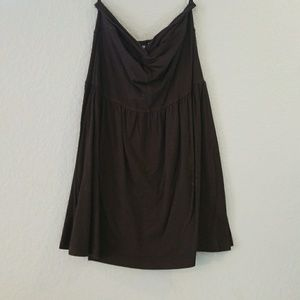 Black strapless dress with back cutout